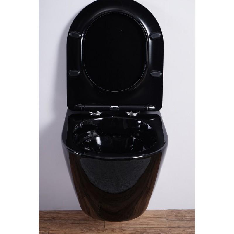 Унитаз подвесной ESBANO AZALEA (Черный)